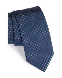 Eton of Sweden - Green Floral Silk Tie for Men - Lyst