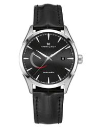 Hamilton - Black Jazzmaster Automatic Leather Strap Watch for Men - Lyst
