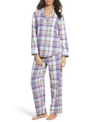 Lauren by Ralph Lauren | Blue Notch Collar Pajamas | Lyst