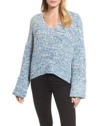 Kenneth Cole - Blue Knit V-neck Sweater - Lyst