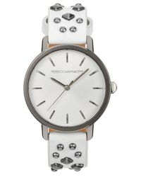 Rebecca Minkoff - Metallic Bffl Studded Leather Strap Watch - Lyst