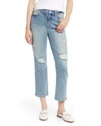 Habitual - Blue Haven High Waist Straight Leg Jeans - Lyst