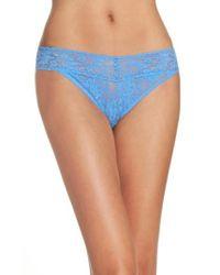 Hanky Panky | Blue Regular Rise Lace Thong | Lyst