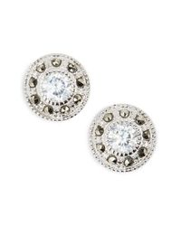 Judith Jack | Metallic Pave Stud Earrings | Lyst