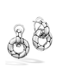 John Hardy | Metallic 'kali' Small Door Knocker Earrings | Lyst