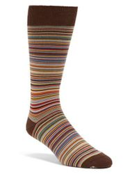 Paul Smith - Brown Multi Stripe Socks for Men - Lyst