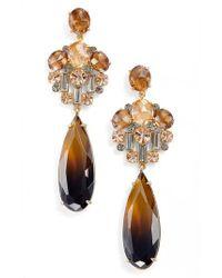 Kate Spade | Metallic Light Things Up Crystal Drop Earrings | Lyst