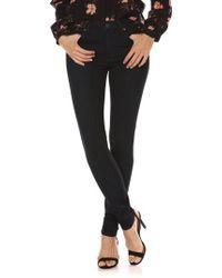 PAIGE - Black Transcend - Hoxton High Waist Ultra Skinny Jeans - Lyst