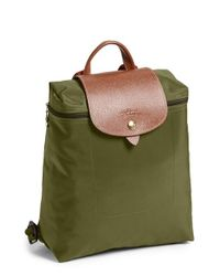 Longchamp | Green 'le Pliage' Backpack | Lyst