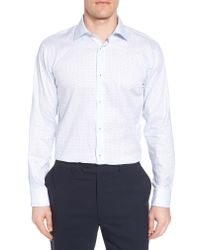 Bugatchi - White Trim Fit Dot Dress Shirt for Men - Lyst