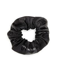 Balenciaga - Black Chouchou Leather Bracelet - Lyst