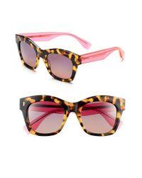 Fendi   Pink 50mm Retro Sunglasses - Spotted Havana   Lyst