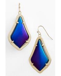 Kendra Scott - Blue Alex Drop Earrings - Lyst
