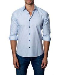 Jared Lang   Blue Sport Shirt for Men   Lyst