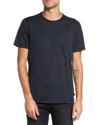 John Varvatos | Blue Burnout Trim Fit T-shirt for Men | Lyst