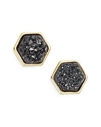 Elise M - Black Tempeste Hex Stud Earrings - Lyst