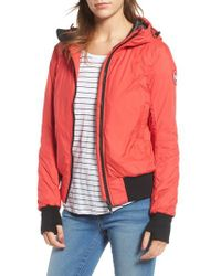 Canada Goose | Red Dore Goose Down Hooded Jacket | Lyst