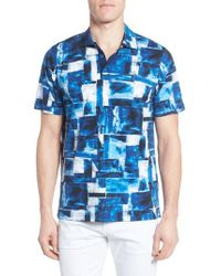 Bugatchi - Blue Print Jersey Polo for Men - Lyst