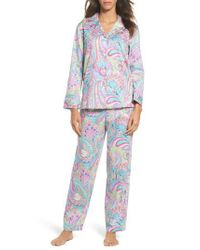Lauren by Ralph Lauren | Blue Notch Collar Pajamas | Lyst
