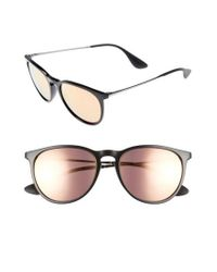 Ray-Ban | Black 54mm Mirrored Sunglasses | Lyst