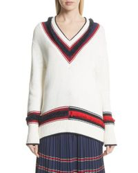 Tretorn - Multicolor V-neck Cotton & Cashmere Sweater - Lyst