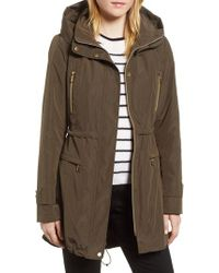 Gallery - Multicolor Hooded Parka With Faux Fur Liner - Lyst