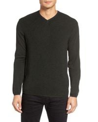 Zachary Prell - Green V-neck Colorblock Merino Wool Pullover for Men - Lyst