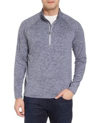 Peter Millar - Blue Sydney Performance Half Zip Pullover for Men - Lyst