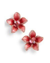 Kate Spade - Red Winter Garden Stud Earrings - Lyst