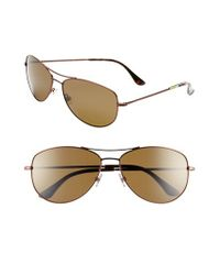 kate spade new york | Brown 'ally' 60mm Polarized Metal Aviator Sunglasses | Lyst