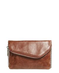 Hobo | Blue 'daria' Leather Crossbody Bag | Lyst