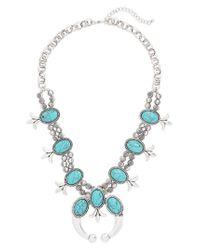 Cara - Blue Western Necklace - Lyst