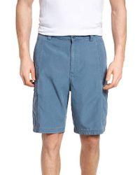 Tommy Bahama | Green 'key Grip' Relaxed Fit Cargo Shorts for Men | Lyst