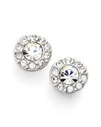Givenchy | Metallic Small Crystal Stud Earrings | Lyst