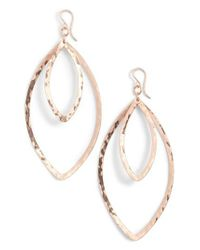 Nashelle - Metallic Double Marquise Drop Earrings - Lyst