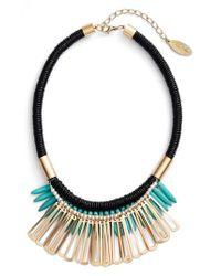 Adia Kibur - Multicolor Spike Stone Statement Bib Necklace - Lyst