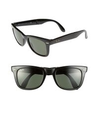 Ray-Ban | Black 'folding Wayfarer' 50mm Sunglasses | Lyst