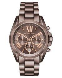 MICHAEL Michael Kors | Metallic Michael Kors 'bradshaw' Chronograph Bracelet Watch for Men | Lyst