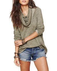 Free People - Multicolor Cocoon Cowl Neck Top - Lyst