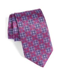 David Donahue - Purple Medallion Silk Tie for Men - Lyst