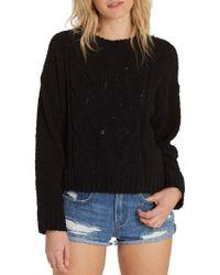 Billabong   Black All Mine Chenille Sweater   Lyst