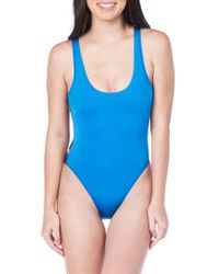 The Bikini Lab - Blue Route 66 One-piece Swimsuit - Lyst