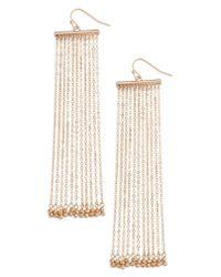 Treasure & Bond - Metallic Linear Fringe Statement Earrings - Lyst