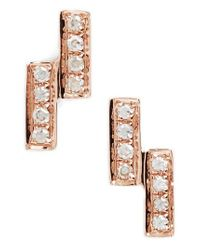 Dana Rebecca - Metallic Sylvie Rose Double Bar Diamond Earrings - Lyst