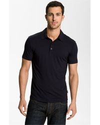 Armani | Blue Trim Fit Polo for Men | Lyst