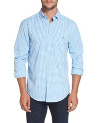 Vineyard Vines | Blue Seawater Gingham Performance Sport Shirt for Men | Lyst