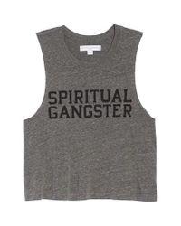 Spiritual Gangster - Gray Varsity Tank - Lyst