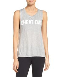 Private Party - Gray Cheat Day Tank - Lyst