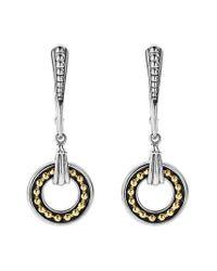 Lagos - Metallic Enso Two Tone Drop Earrings - Lyst
