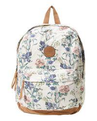 O'neill Sportswear - Blue Shoreline Floral Print Backpack - Lyst